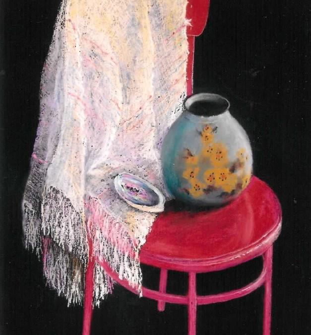 Julia Blackler Vase on a chair