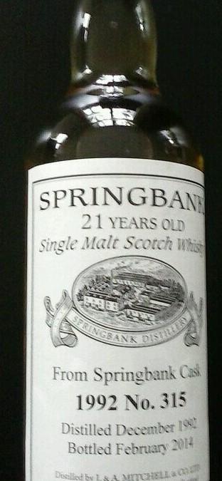 Springbank Whisky Private bottling