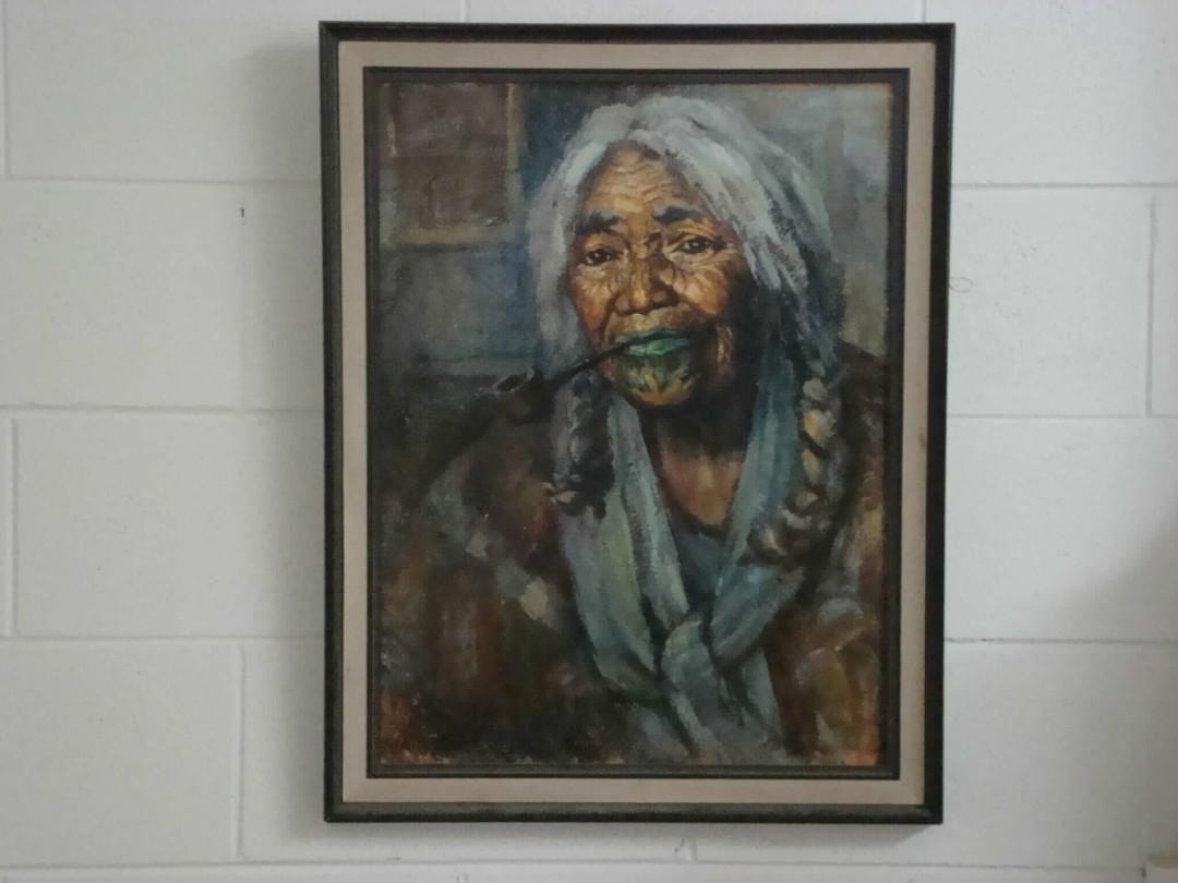 Ida Carey Maori Woman – Striped Shawl