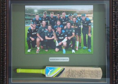 Black Caps 2015 signed Bat