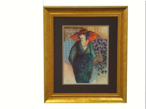 Patrica Govezensky – Lady in Blue Dress