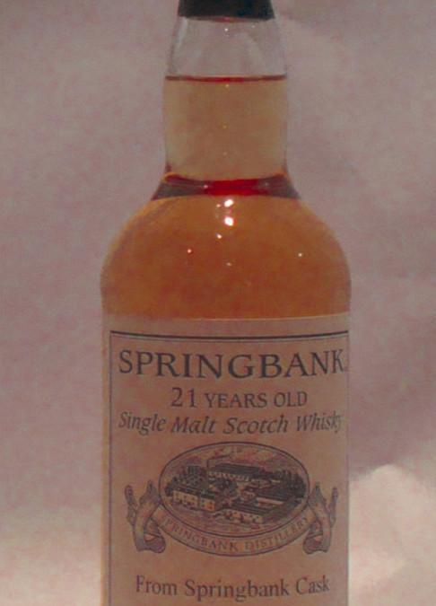 Whiskey – Springbank 1992 (private bottling)