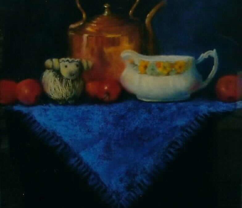 Julia Blackler – Still life on blue