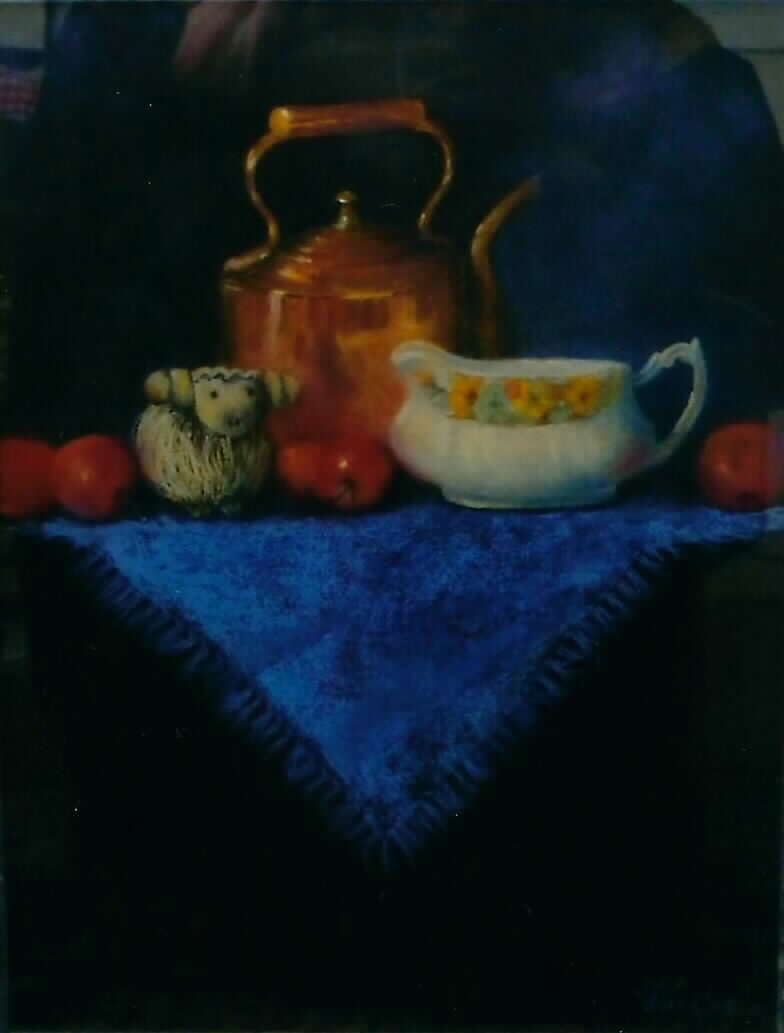 Julia Blackler – Still life on blue
