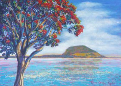 Lynne Sinclair Taylor – Mauao from Matua